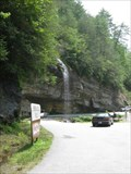 Image for ONLY waterfall in the North Carolina that one can drive a vehicle under