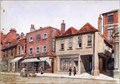 """Image for """"Market Place St Albans (about 1890)"""" by EA Phipson – Market Place, St Albans, Herts, UK"""