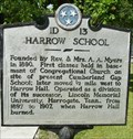Image for Harrow School Historical Marker - Cumberland Gap, TN