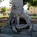 Image for Lion statue on monument to victims WWI - Líštany, Czechia
