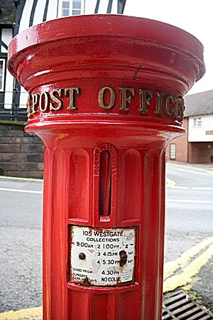 West Gate Post Box, Warwick, UK - Victorian Post Boxes on
