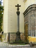 Image for Cross beside Church of the Assumption of the Virgin Mary, Zatec, Czech Republic