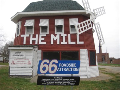 The Mill - Route 66 Icon - Lincoln, IL - Windmills on ...