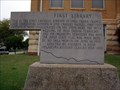 Image for First Library - Guthrie, Oklahoma