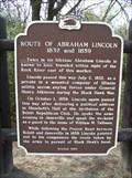 Image for Route of Abraham Lincoln 1832 and 1859 Historical Marker
