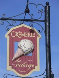 Le Cornet de Crème Glacée de la Crèmerie du Village.  The Ice Cream Cone Crèmerie Village.