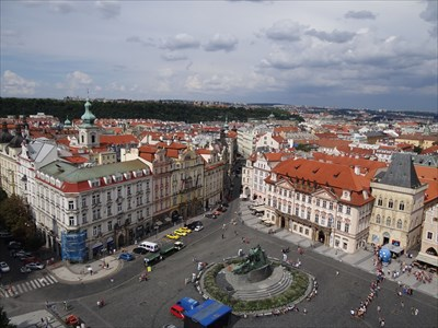 Old town square from above.