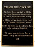 Image for Columbia Falls Town Hall - Columbia Falls, ME