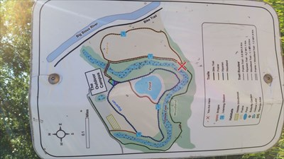 Map of the walking trails at the Outdoor Campus