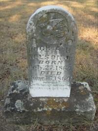 Hugh Nelson, Jr., earliest dated stone in Nelson Cemetery.