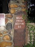 Image for Milestone 62 Miles From Boston - 1767 Milestones - East Brookfield, Massachusetts