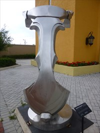 Stainless Steel Abstract Sculpture - Kissimmee, Florida.