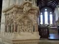 Image for Victorian Pulpit - Church of St Cuthburga - Wimborne Minster, Dorset, UK.[