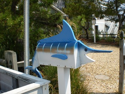 Furniture Stores Ocean City on Swordfish Mailbox   Ocean City  Md   Themed Homemade Mailboxes On