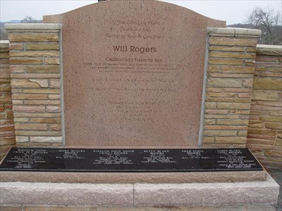 William Penn Adair Will Rogers Grave Of A Famous Person On Waymarking Com