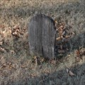 Image for Wooden Tombstone -- Old Rockwall City Cemetery, Rockwall TX