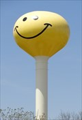 Image for Historic Route 66 - Smiley Face Water Tower - Atlanta, Illinois, USA.