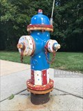 Image for Patriotic Parade of Painted Hydrants, No. 1 - Cumberland, Rhode Island
