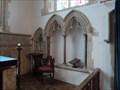 Image for Piscina & Sedilia - St Andrew - Great Finborough, Suffolk