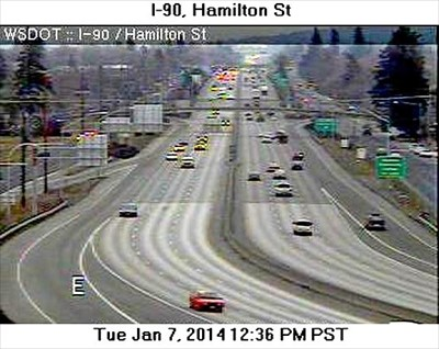 I-90 at Hamilton Street/Highway 290 Webcam - Spokane, WA