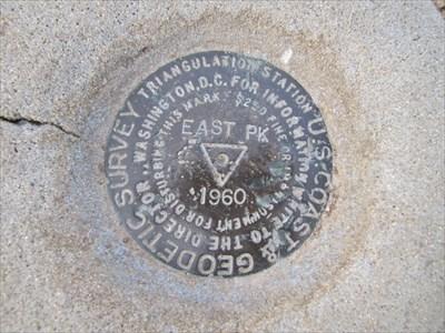 Benchmark at East Peak, Mount Tamalpais, Marin County, California