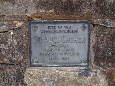 Plaque on the monument -- other than the churchyard, the only reminder of the church that once stood here.