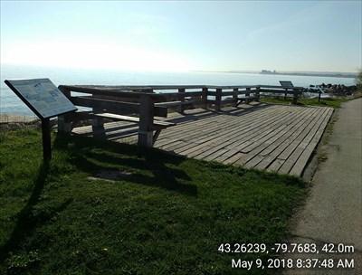 Viewing platform at Van Wagners Beach