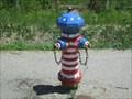 Image for Patriotic fire hydrant - Marriott-Slaterville, Utah