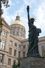 Replica of the Statue of Liberty in front of Georgia State Capitol