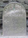 Image for Milestone - Accrington Road, Hapton, Lancashire, UK.