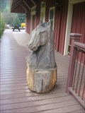 Image for Horse head carved piece  - Felton, CA