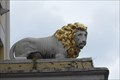 Image for A White Lion on the hotel portico, The White Lion Hotel, Upton-upon-Severn, Worcestershire.