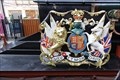 "Image for Royal Coat of Arms -- ""The Queen"" Locomotive, Windsor & Eton Railway Station, Windsor, Berkshire, UK"