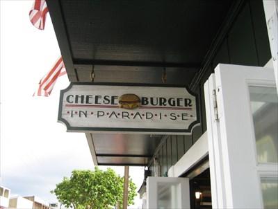 Cheeseburger in Paradise in Lahaina, Maui, Hawaii - Jimmy