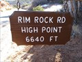 Image for Rim Rock Road High Point - 6640'