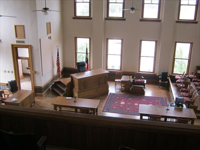 Inside the courtroom.