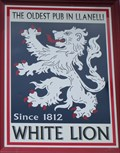 Image for The White Lion - Pub Sign - Felinfoel, Llanelli, Wales.