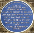 Image for Charles Ricketts / Charles Shannon / Glyn Philpot / Vivian Forbes / James Pryde / F Cayley Robinson - Lansdowne Road, London, UK