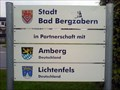 Image for Sister city sign and roundabout - Bad Bergzabern, Germany