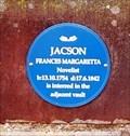 Image for Frances Margaretta Jacson plaque - St Peter & St Blaise - Somersal Herbert, Derbyshire