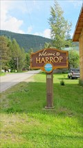 Image for Welcome Sign - Harrop, BC