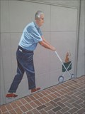 Image for Man Pushing Cat in Stroller - Palo Alto, CA