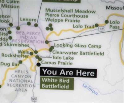 White Bird Battlefield Overlook Idaho You Are Here Maps On