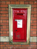 Image for Westbury Railway Station Post Box, Wiltshire, UK.