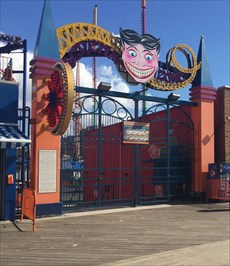 Scream Zone Entrance (East), Coney Island, Brooklyn, New York