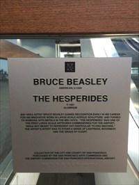 The Hesperides Plaque, SFO Terminal 3, San Francisco, California