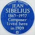 Image for Jean Sibelius - Gloucester Walk, London, UK