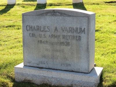 Charles A Varnum, Medal of Honor, Front, San Francisco National Cemetery