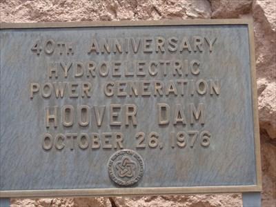 veritas vita visited 40th Anniversary Hydroelectric Power Generation Hoover Dam