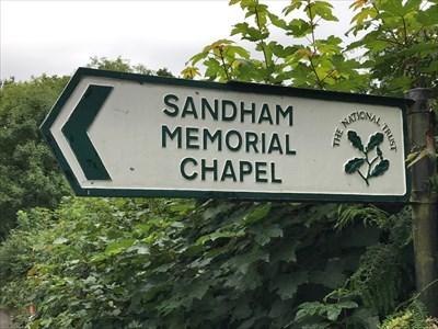 Sandham Memorial Chapel Sign, Burghclere, Newbury, Hampshire, England